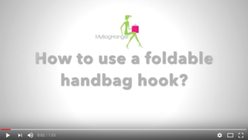 How to use a foldable handbag hook