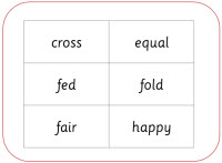 Free base words cards