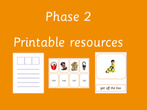 ... Letters and Sounds Phase 2 - Printable phonic resources and worksheets