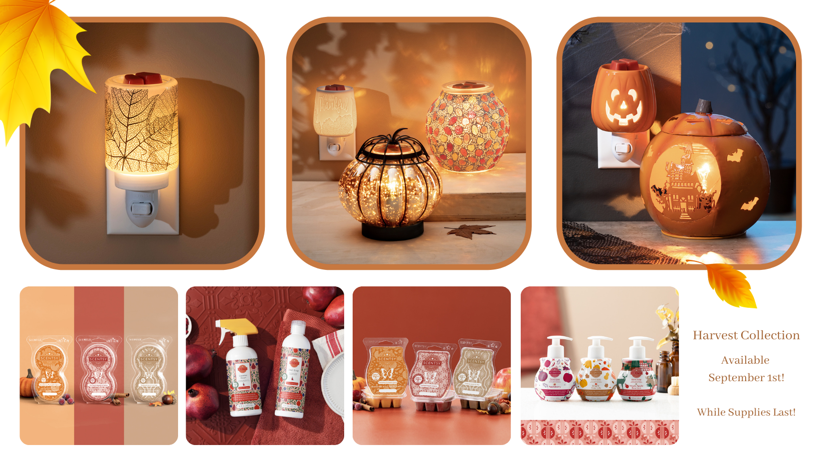 Scentsy Harvest Halloween Collection 2021