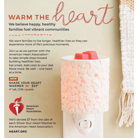 Share the Heart Scentsy Charity Warmer