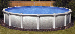 Piscina em chapa, oval, Oracle 3,65 x 5,18 m