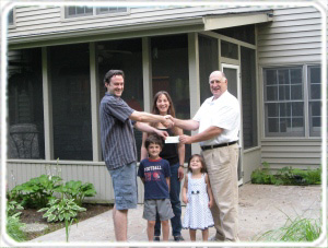 Read About the Cash Rebate Chad and Amber Received from Realtor Jim Cadwalader for Buying a House in Fishers, Indiana