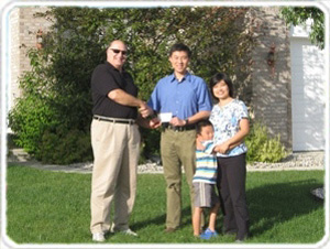 Read About the Cash Rebate Evelyn and Zejin Received from Realtor Jim Cadwalader for Buying a House in Carmel , Indiana