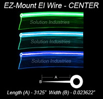 2.2mm High Bright EZ-MOUNT EL Wire Yellow