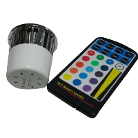 Color Changing LED Light Bulb and Remote (MR16 Base)