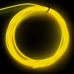 Raw 2.6mm EL Wire, Yellow ( Polar Bright 3 )