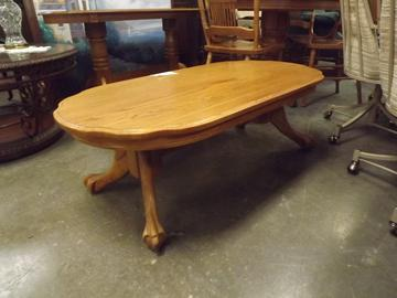 Used Oak Paw Foot Coffee Table
