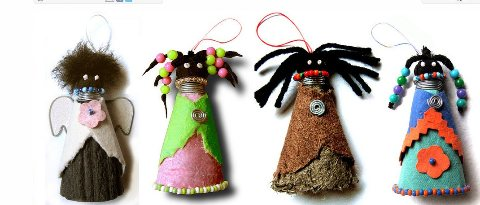 recycled paper dolls