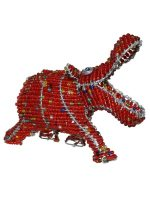 African wire and bead animals
