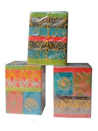 Hand Painted African Candles