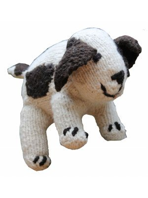 Knitted wool puppy