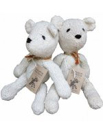 fairtrade knitted teddy bears