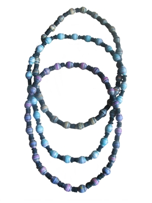 eco gifts, paper bead necklace