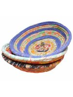 Bowls made from recycled saris