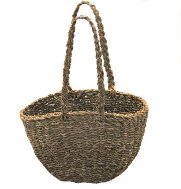 Natural woven market baskets