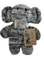 Kenana Knitters hand made wool elephant