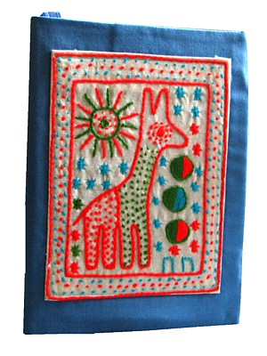 African embroidered journals-fairtrade and handmade