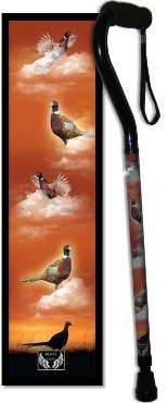 Pheasant offset walking cane