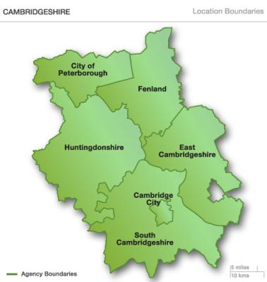 Areas in Camberidgeshire covered by Gym In Motion