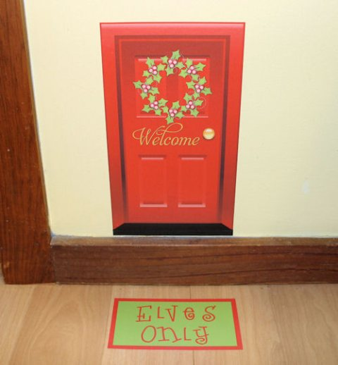 One hip sticker chic elf door for The magic elf door