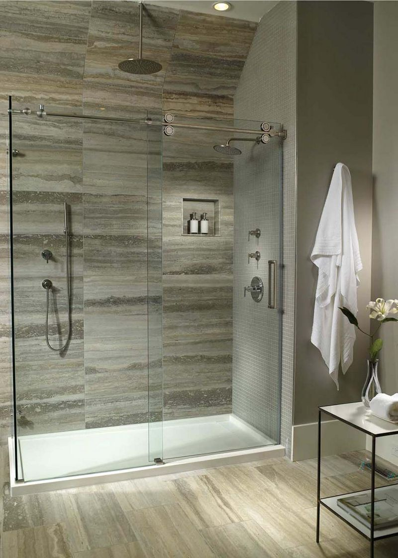 Big shower bathroom trend