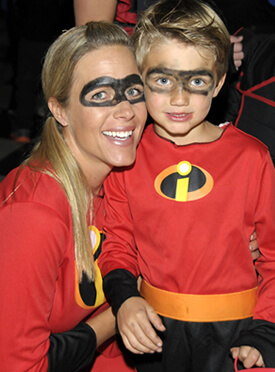 Mother and Son Super Heroes