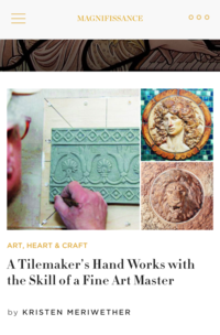 Magnifissance :    A Tilemaker's Handworks with a Skill of a Fine Art Master
