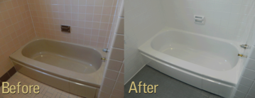 Bathtub refinising before and after