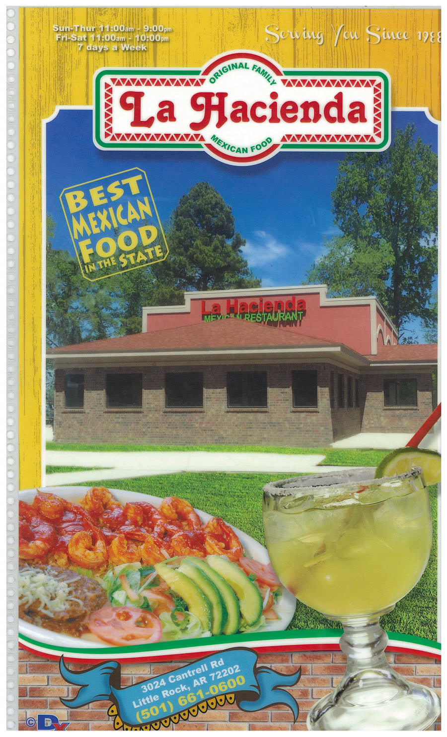La Hacienda Menu Cover