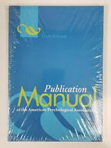 Publication Manual of the American Psychological Association 6th Edition APA $7.49