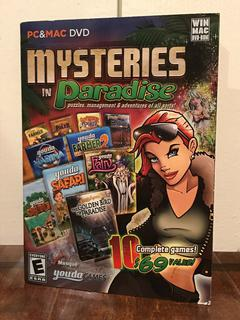 mysteries in paradise --- 10 complete puzzle & adventure computer games --- new $5.99