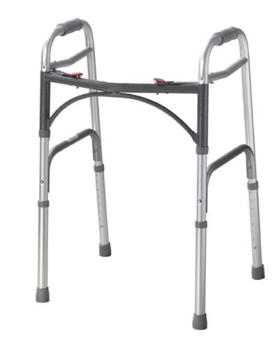 Drive Adult, Deluxe Folding Walker, Two Button