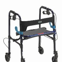 "Drive Adult, Clever-Lite Walker with Seat, Loop Locks and 5"" Casters"