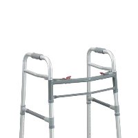 Drive Adult/Junior, Deluxe Folding Walker, Two Button, Universal