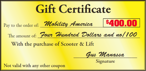 Mobility America scooter specials