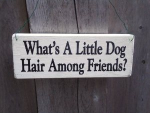 Dog Hair Sign