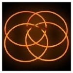 Glow Necklaces OrangeTube of 50