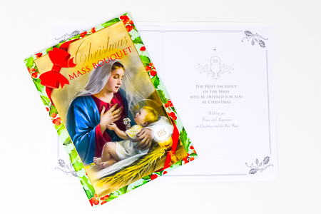 Christmas Mass Bouquet Card.