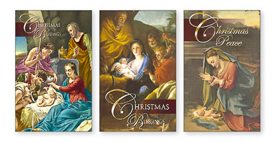 10 Christmas Blessing Cards.