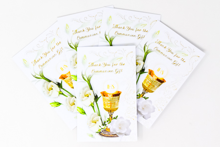 Communion Thank You Cards.
