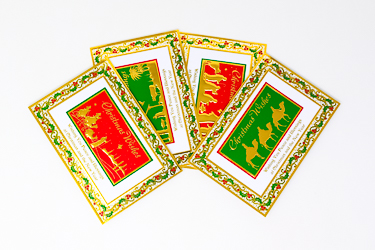Gold Stamped Christmas Cards.