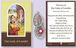 Prayer Booklet & St. Bernadette Relic Medal.
