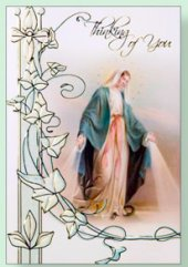 Thinking of you Card - Our Lady of Grace.
