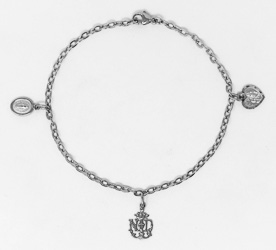 Lourdes Apparition Emblem Bracelet.