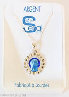 Virgin Mary Cameo Necklace.