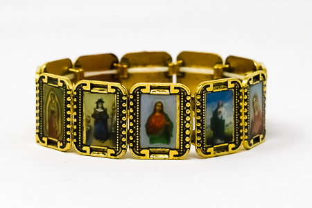 All Saints Gold Faith Bracelet.
