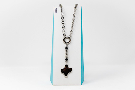 Silver Rosary�Necklace.