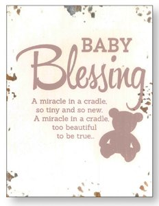 Baby Blessing Plaque