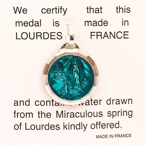 Apparitions Lourdes Water Pendant.